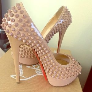 Christian Louboutin lady peep spikes